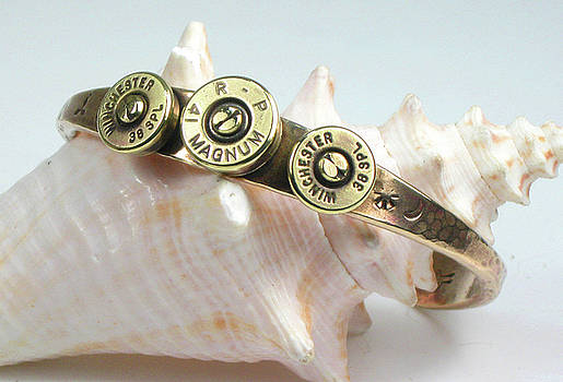 Magnum Caliber Bullet Shell Bracelet by Vagabond Folk Art - Virginia Vivier