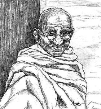 Mahatma Gandhi by Murali