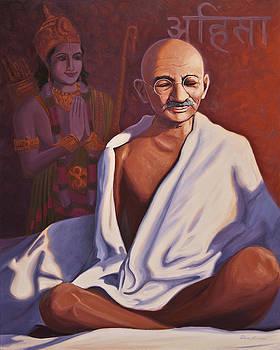 Mahatma Gandhi by Steve Simon