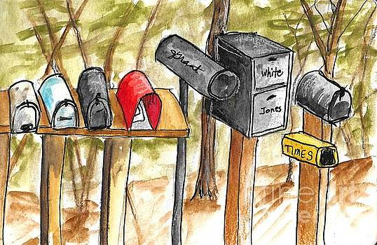 Mailboxes by Jeanne Grant