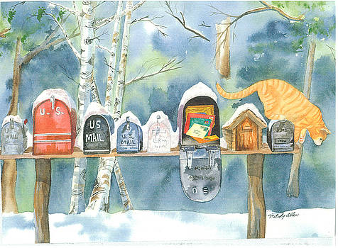 Mailboxes on Buttermilk Falls Road by Melody Allen