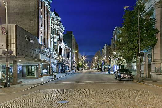 Main Street Blue Hour in Lynchburg by Tim Wilson