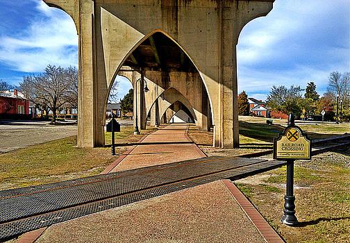 Main Street Bridge Railroad Crossing by Joey OConnor