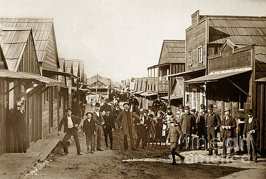 California Views Mr Pat Hathaway Archives - Main Street Chinaton Pacific Grove looking Northwest circa 1904