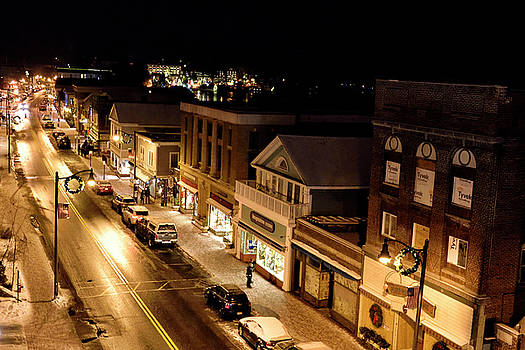 Main Street - Lake Placid New York by Brendan Reals