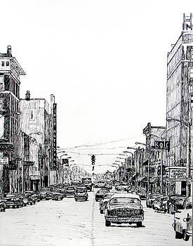 Main Street, Miami, Oklahoma, 1957 by Ron Enderland