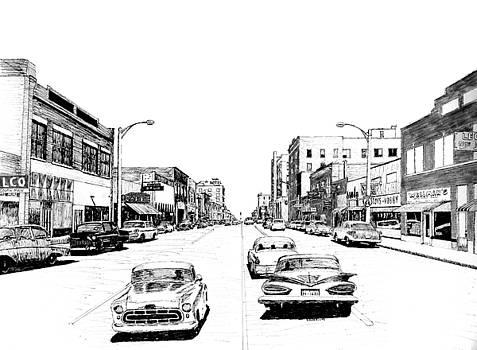 Main Street, Miami, Oklahoma, 1960 by Ron Enderland