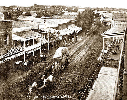 California Views Mr Pat Hathaway Archives - Main Street, Placerville, from the Cary House 1866