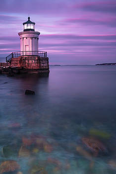 Ranjay Mitra - Maine Buglight Lighthouse at Sunset