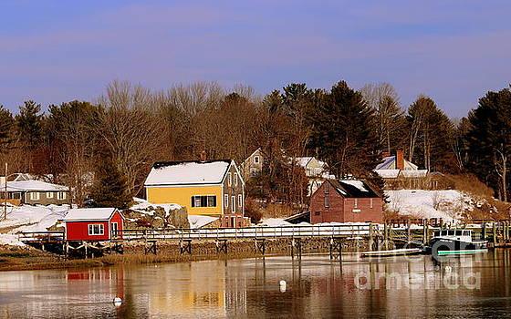Maine Coast In Winter by Lennie Malvone