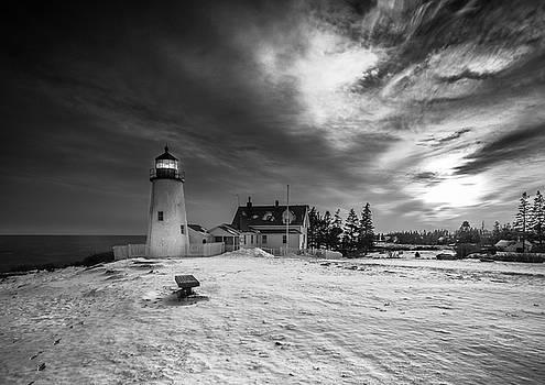 Ranjay Mitra - Maine Coastal Storm over Pemaquid Lighthouse
