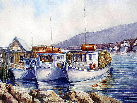 Maine Fishing Harbor by Richard Powell