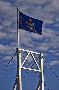 Steven Ralser - Maine Flag -Perkins Cove Bridge