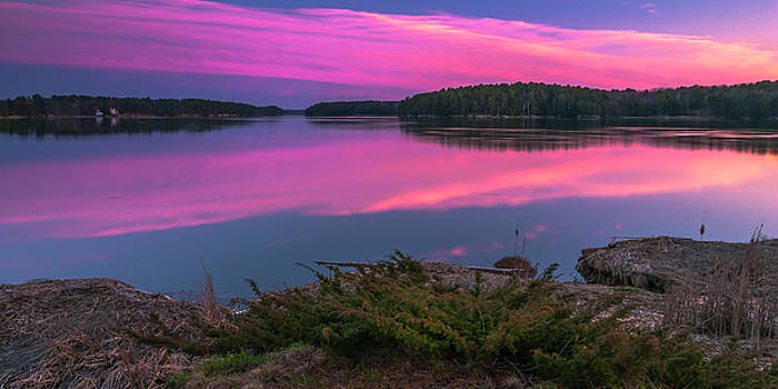 Ranjay Mitra - Maine Kennebec River Sunset Panorama