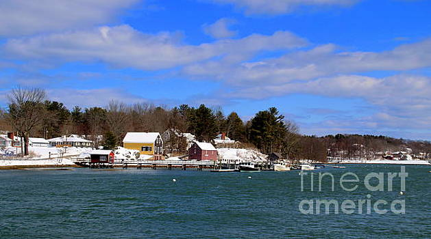 Maine Lobster Boats in Winter by Lennie Malvone