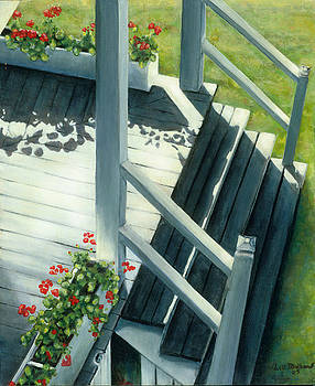 Maine Porches Number Three by Leo Malboeuf