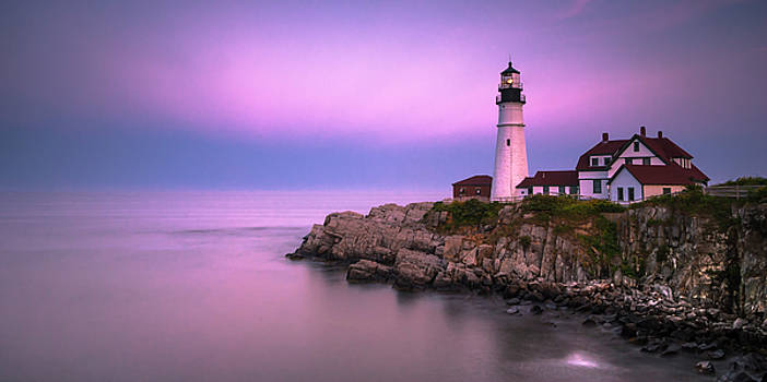 Ranjay Mitra - Maine Portland Headlight Blue Hour Panorama