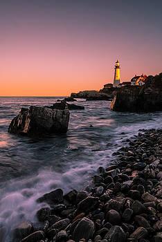 Ranjay Mitra - Maine Portland Headlight Sunset