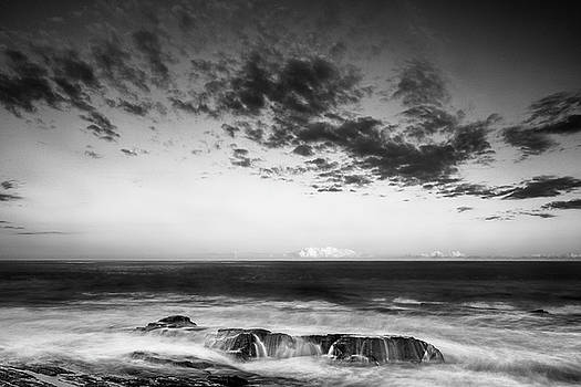 Ranjay Mitra - Maine Rocky Coast with Boulders and Clouds at Two Lights Park