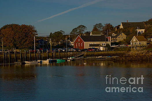 Maine- Seaports in Fall by April Bielefeldt