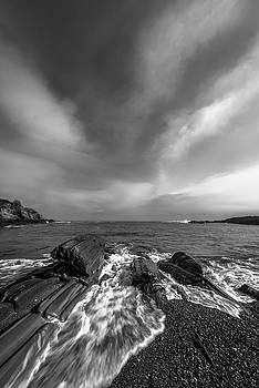 Ranjay Mitra - Maine Storm Clouds and Crashing Waves on Rocky Coast