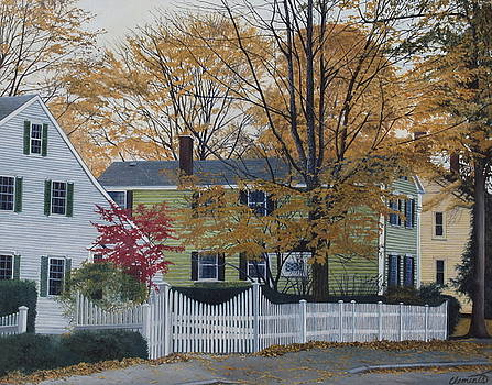Autumn day on Maine Street, Kennebunkport by Barbara Barber
