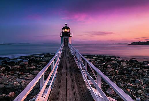 Ranjay Mitra - Maine Sunset at Marshall Point Lighthouse