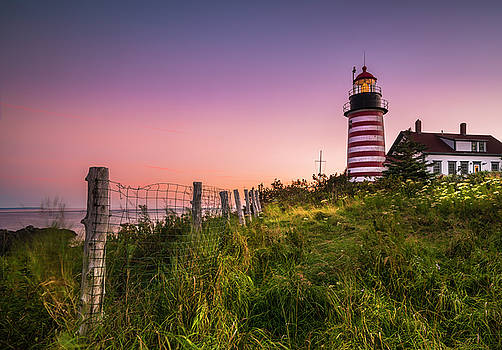 Ranjay Mitra - Maine West Quoddy Head Light at Sunset