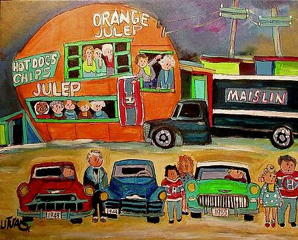 Maislin Delivery at the Orange Julep by Michael Litvack