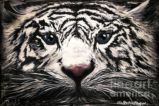 Majestic White Tiger by Christine Mayfield