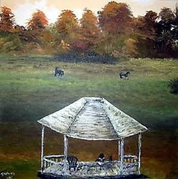 Majesty's Estate - Oil On Canvas by Pamela Benjamin
