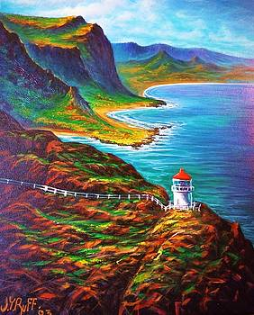 Makapuu Point Lighthouse by Joseph   Ruff