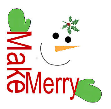 Make Merry Snowman Hug by Randi Veiberg