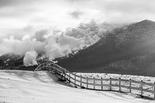 Making Snow BW by Tim Kirchoff