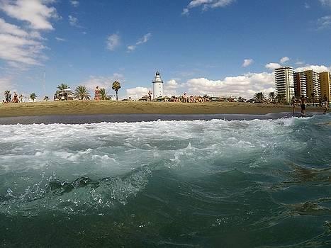 Malaga beach by Tamara Sushko