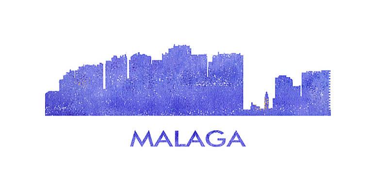 Vyacheslav Isaev - Malaga city purple skyline