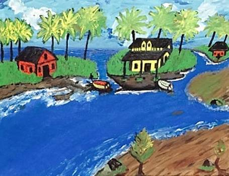 Malaysian Island painting by Jonathon Hansen