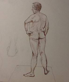 Male Life Drawing by Robert Monk