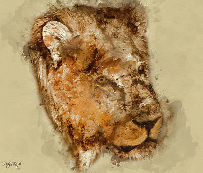 Male Lion by Petrus Bester