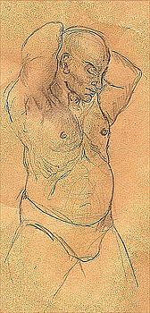 Male Nude by Jane Clatworthy