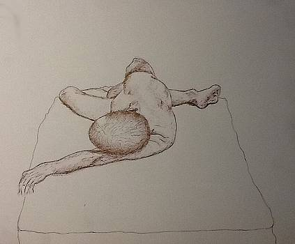 Male Nude Life Drawing by Robert Monk