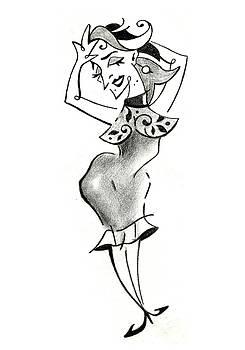 Arte Venezia - Malena Tango - Sexy Woman Pencil Drawing