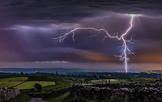 Malham Lightning Strike by Craig Wilkinson