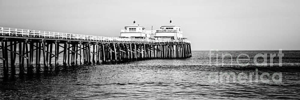 Paul Velgos - Malibu Pier Black and White Panorama Picture
