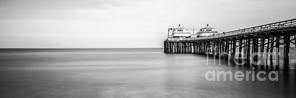 Paul Velgos - Malibu Pier Black and White Panoramic Picture