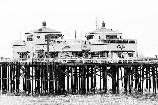 Art Block Collections - Malibu Pier Twin Buildings
