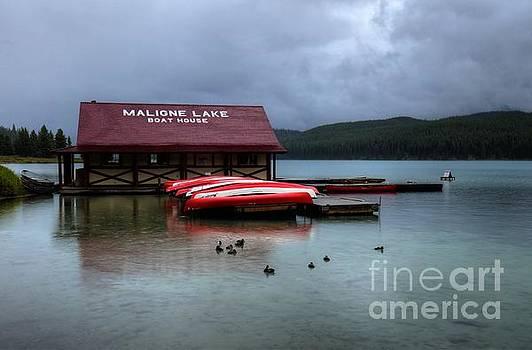 Wayne Moran - Maligne Lake Boat House Jasper National Park