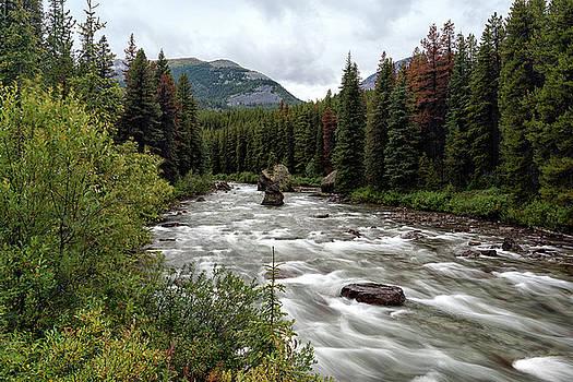 Maligne River by Dennis Kowalewski