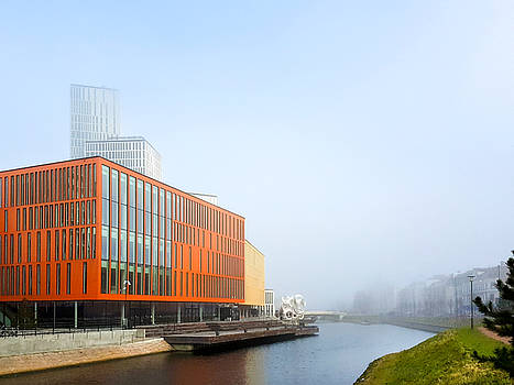 Malmo Live, strange fog sweeping across Malmo by Laura Denis