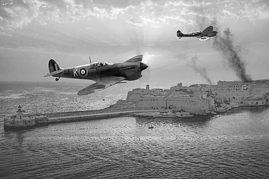 Malta Bastion - BW by Mark Donoghue